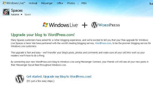 wordpress.com, live