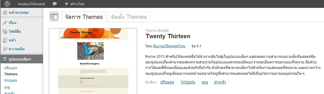 wordpress theme 2013